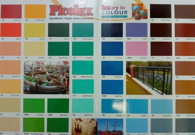 contoh warna cat tembok spectrum