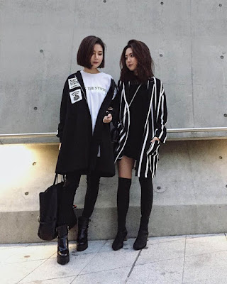 fashion street style korean friends
