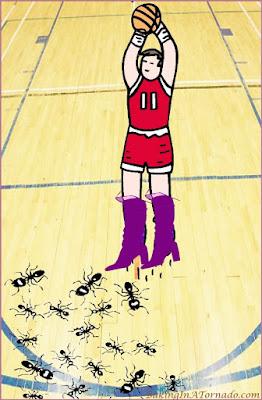 Go-Go Boots, Mad Ants and Nuts, a look at pro sports affiliate team names. | www.BakingInATornado.com | #funny #laugh #MyGraphics