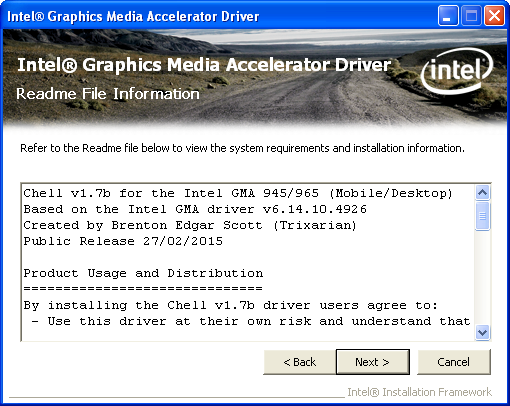 Download modded driver intel gma 3150