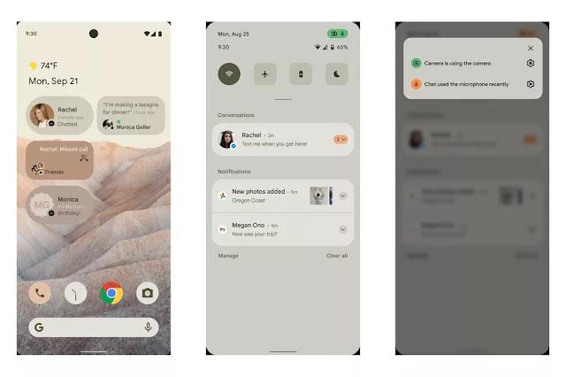 Bocoran tampilan Android 12 Punya Google, Mantap dan Smooth