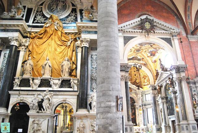Interior Basílica Santi Giovanni e Paolo, Venecia