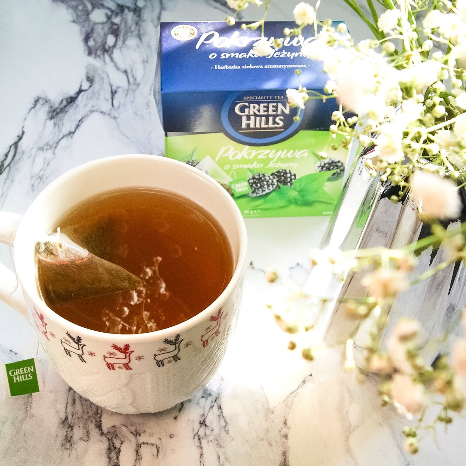 Green Hills Pokrzywa o smaku jeżyny - herbatka ziołowa aromatyzowana