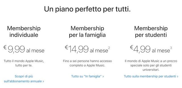 Come non pagare Apple Music 9,99€ ma molto meno