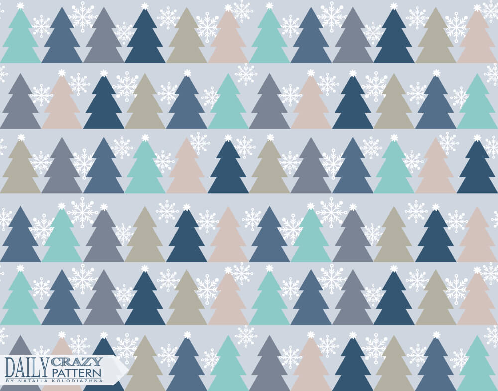 Pattern with Christmas trees