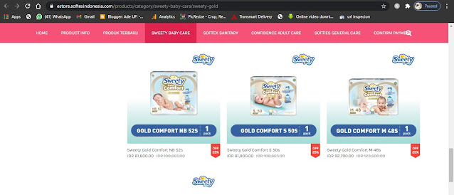 Sweety Gold Comfort Diapers