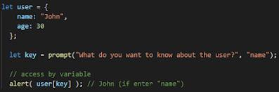 معرفة المفتاح المتغير في وقت التشغيل objects جافا سكريبت