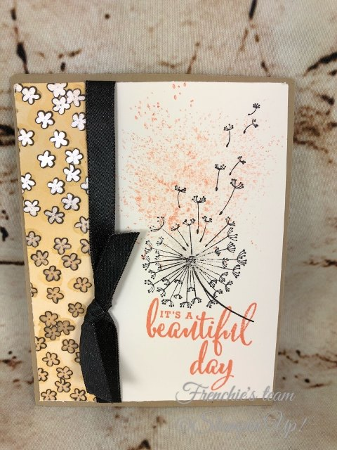Card, Dandelion Wishes, Share What You Love Designer Series Paper, Clean & Simple