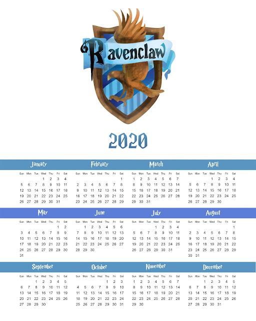 Revenclaw: Free Printable 2020 Calendar.