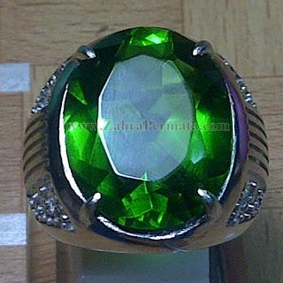 Cincin Batu Permata Green Tektite - ZP 913