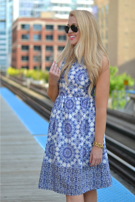 Blue   White Sundress | bright and beautiful | Chicago Fashion   ...