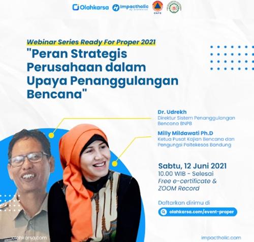 Perusahaan Go Publik Punya Andil dalam Upaya Penanggulangan Bencana di Indonesia