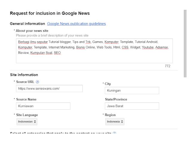 Cara Mendaftarkan Blog Ke Google News Untuk Meningkatkan Visitor