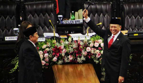 Bambang Soesatya Terpilih Jadi Ketua MPR-RI Periode 2019-2024