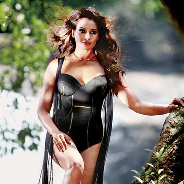 Bipasha Basu in Black Swimsuit