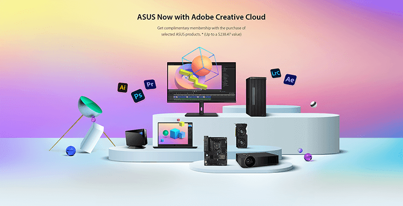 ASUS Now with Adobe Creative Cloud