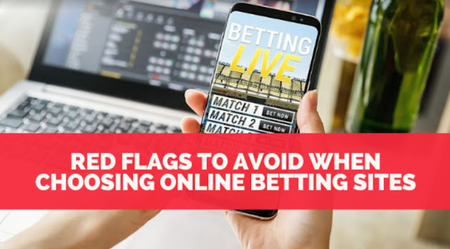 red flags to avoid choosing online betting sites gambling website fraud