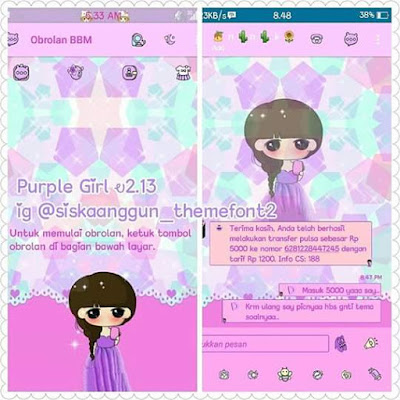 Download BBM Mod Tema Purple