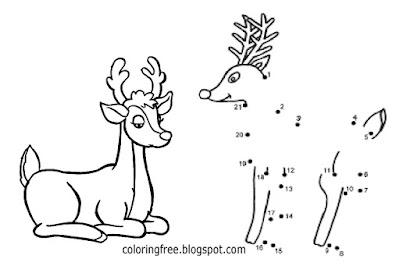 Winter easy craft activities for children 2 dot cute reindeer winter wonderland coloring book pages