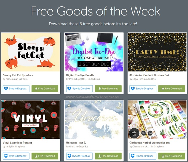 Freebies of the week download now!