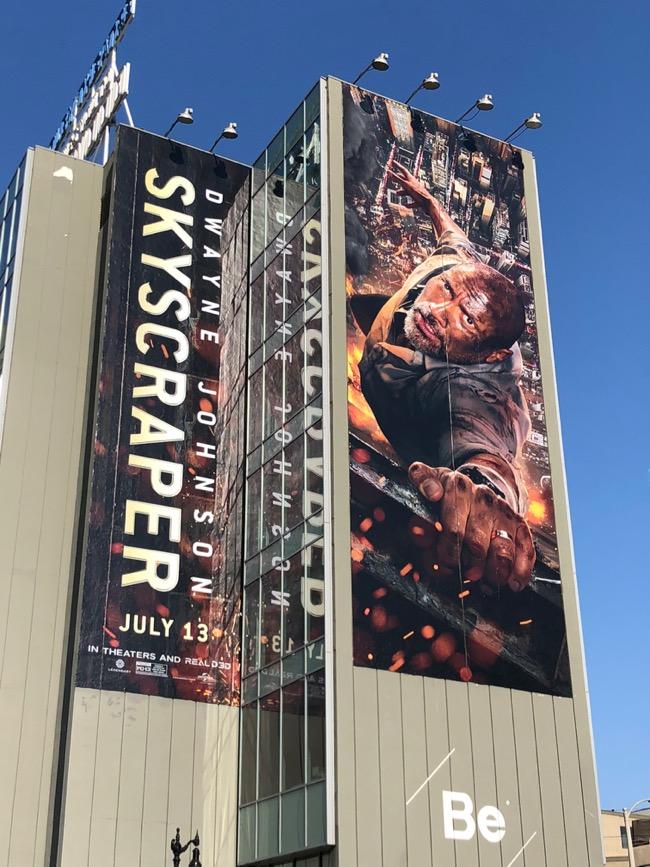 Daily Billboard: Skyscraper movie billboards    Advertising