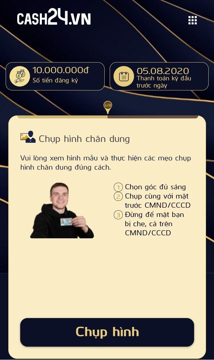 Cash24 – Vay online tới 15 triệu 0% lãi suất chỉ cần CMND