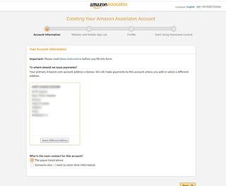 amazon-affiliate-account-information