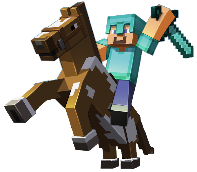 Minecraft character illustration, Minecraft: Pocket Edition Minecraft: Story Mode Terraria Horse, Minecraft, video Game, playStation 4, survival png free png download
