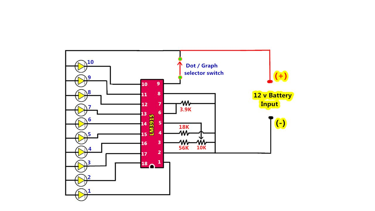 Calculate Battery Backup Time And Choose An Inverter 12v Circuit Voltage Level Indicator Checking Using Lm3915 Ic