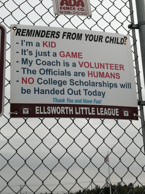 A message from the local little league team