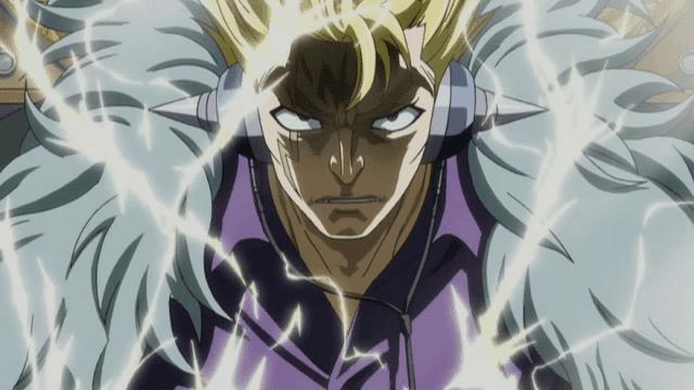 Sihir petir milik Laxus disebut mampu menandingi kekuatan Gildart