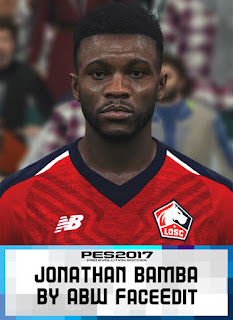 PES 2017 Faces Jonathan Bamba by ABW_FaceEdit