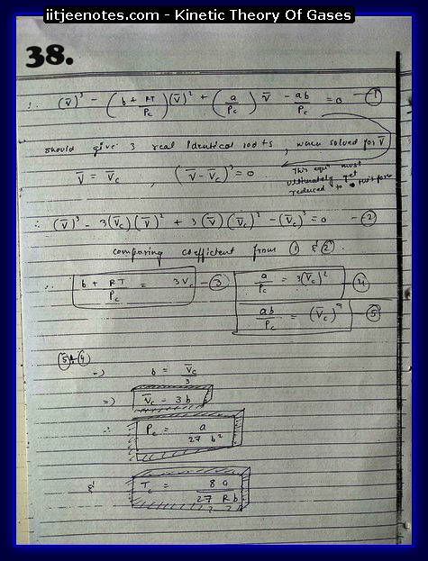 Kinetic Theory Of Gases Notes IITJEE8