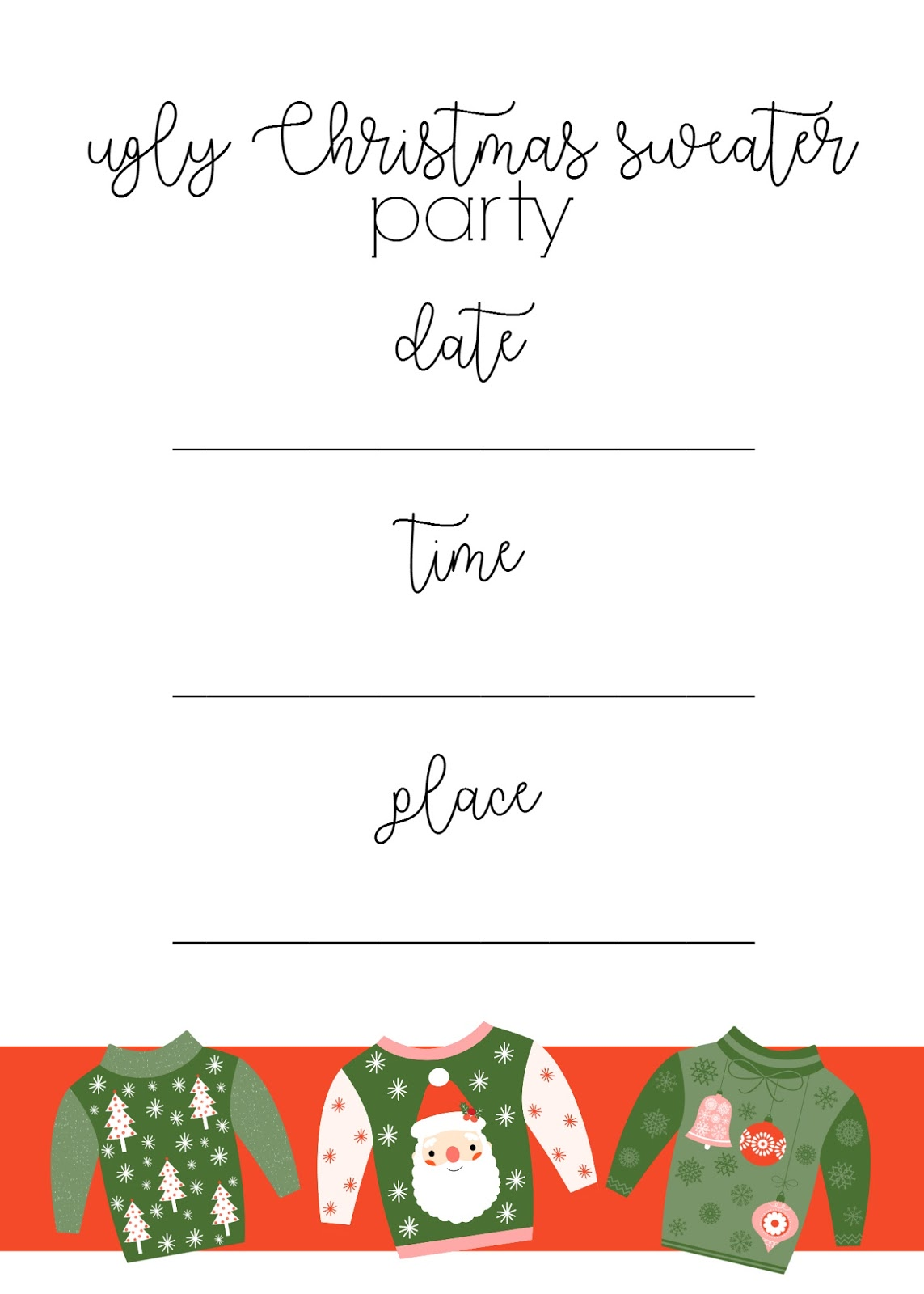 Ginger Snap Crafts Ugly Christmas Sweater Party Ideas Amp Printables
