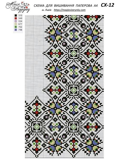 Схема викройки вишиванок