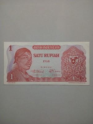 1 rupiah tahun 1968