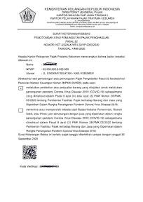 Contoh Surat Keterangan Bebas (SKB) PPh Pajak Impor Barang PPh Impor tahun 2020
