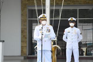 Danlantamal VIII Pimpin Upacara  Peringatan HUT TNI AL KE-76