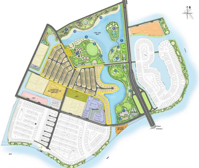Quy mô dự án tổ hợp nhà phố, biệt thự The Manhattan