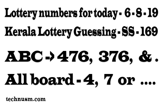 Lottery numbers for today,