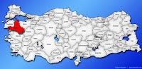 Balıkesir ilinin Türkiye haritasında gösterimi