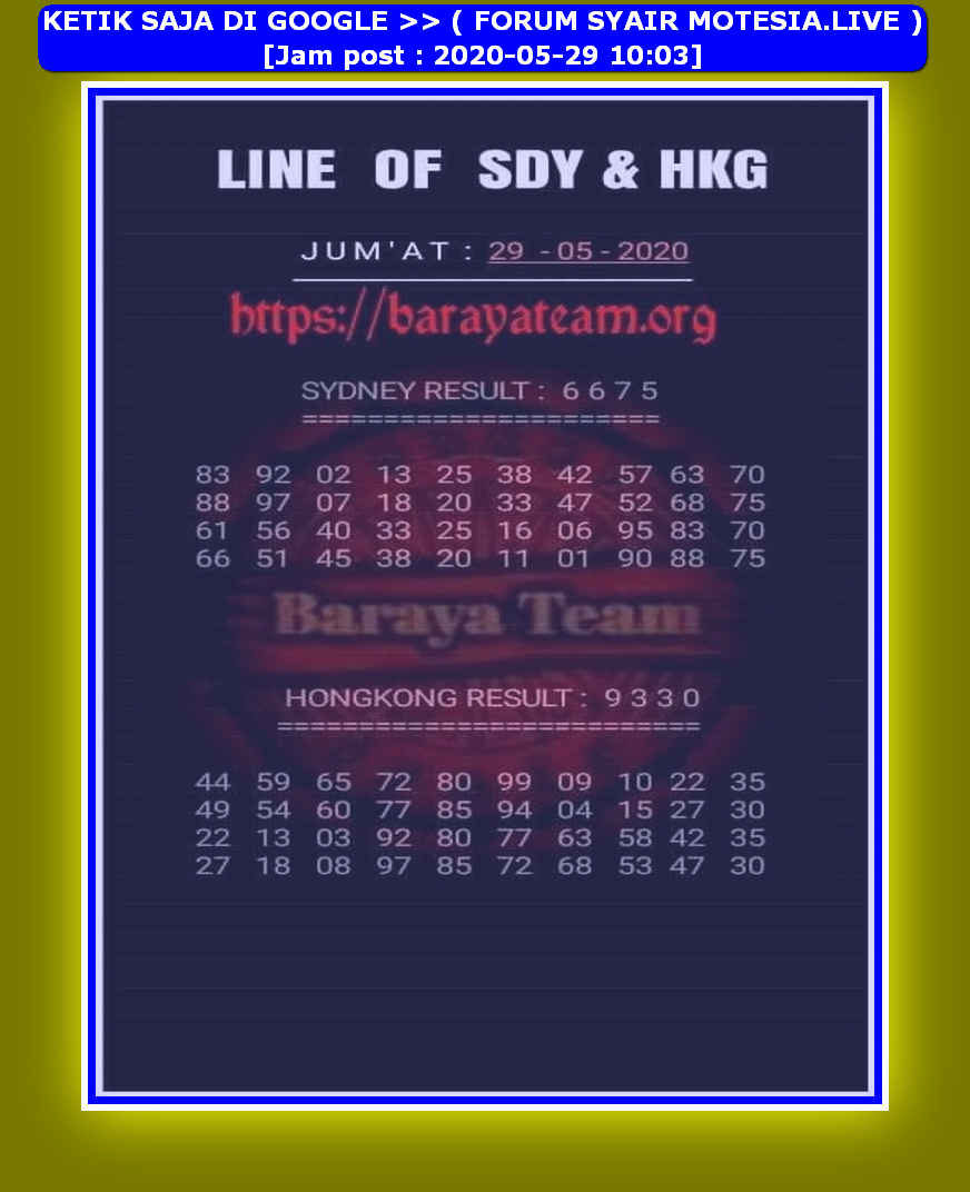 Kode syair Hongkong Jumat 29 Mei 2020 192