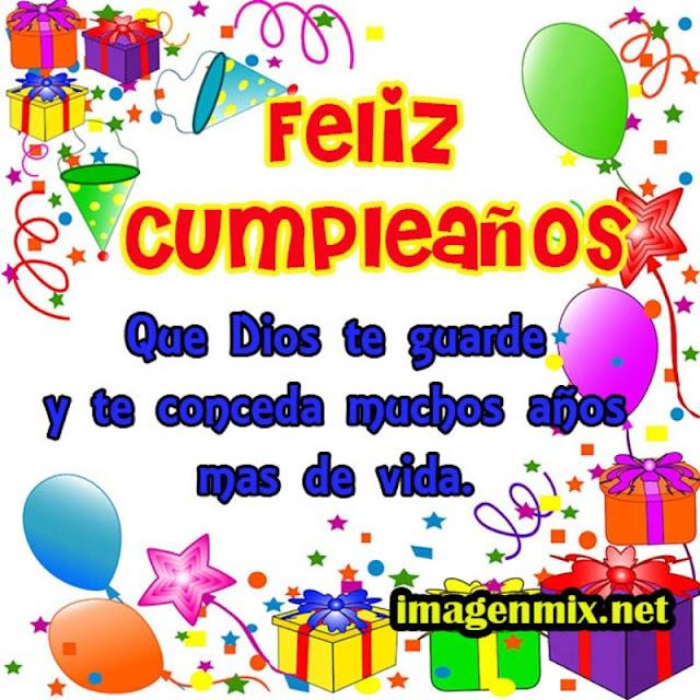 Tarjeta cunpleaños que Dios te guarde y te conceda muchos más años de vida