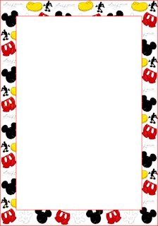 Mickey Free Printable Invitations, Labels or Cards.
