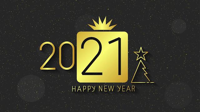 Minimal Happy New Year 2020 HD Wallpaper