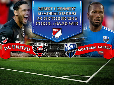 Agen Live Casino Terlengkap - Prediksi Bola MLS DC United vs Montreal Impact 28 Oktober 2016