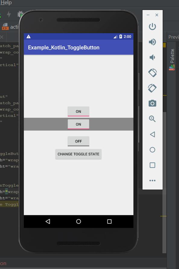 Como crear un ToggleButton en Android utilizando Kotlin