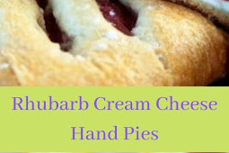 Rhubarb Cream Cheese Hand Pies
