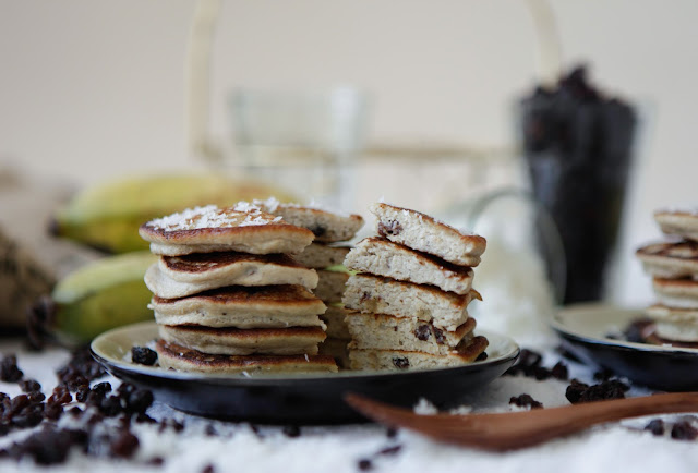 Coconut Raisin Pancakes (Grain & Gluten Free, Dairy Free and Nut Free)
