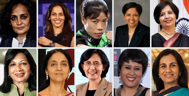 Find out the names and achievements of famous women of India